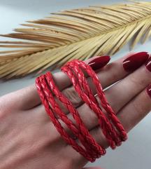 Wabi Sabi crvene narukvice