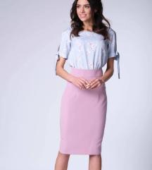 Roze uska suknja