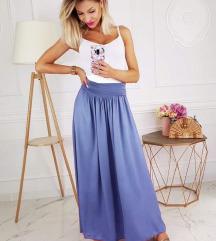 Plava  duga suknja