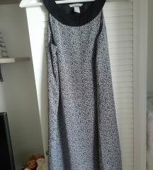 H&M efektna crno - bela haljina