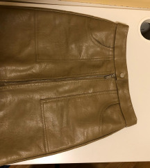 kozna suknja stradivarius