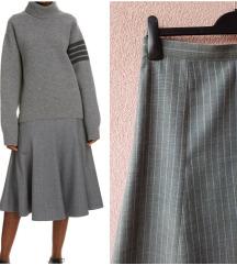 Siva midi suknja***NOVO