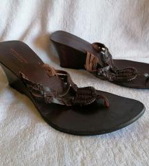 FOSCHINI kozne papuce na platformu 40.5 AKCIJA