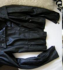 Koton crna kozna jaknica