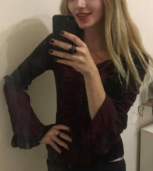 Gothic vampire plisana majica