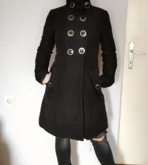 MANGO crni kaput
