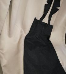 Suknja sa kragnom na skidanje, etiketa