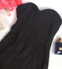 H&M crna top haljina Nova