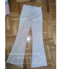 Roze pantalone zvonarice S,M