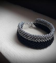 Crno-srebrna manja