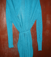 Tirkizno-plavi kardigan