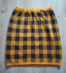 Karo vunena suknja