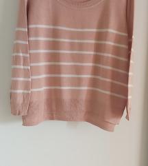 H&M puder roze besprekoran koncani dzemper SNIZENO