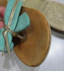 Italy kožne tirkiz papuče br. 37 / 23.5 cm