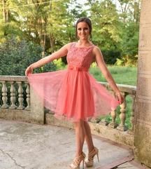 RASPRODAJA 2800 Divna haljinica cipka til kajsija