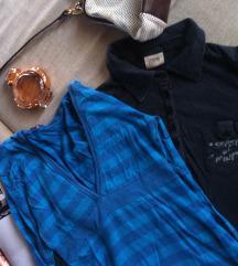Dve bluze plava i siva dug rukav