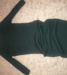 Smaragdno zelena haljina ispod kolena