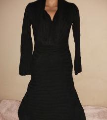 Crna duza dzemper haljina vel S/M