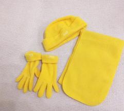 Komplet kapa, šal i rukavice 5-6 god.