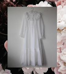 PRODATO Vintage bela haljina