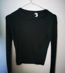 H&M zeleni crop džemper S