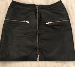 Happy store kožna mini suknja s