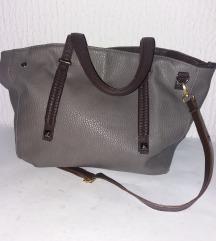 Moćna siva kvalitetna velika torba kao iz radnje