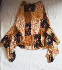 Ženska suknja romantična u patchwork stilu