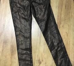Kožne bronzane pantalone nove sa etiketom