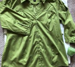H&M MAMA NOVA zelena kosulja rukavi 7/8 M velicina