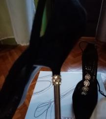 Elegantne sandale u špic sa cironima