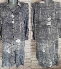 NOVA Siva kosulja/haljina M/L