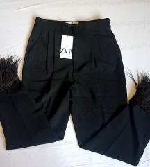ZARA pantalone perje NOVO sa etiketom