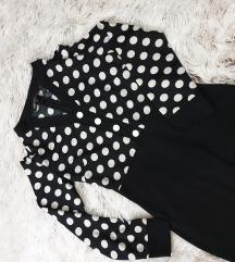 Crnobela haljina na tufne