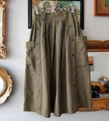 Safari lanena suknja VINTAGE