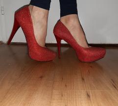 Crvene cipele sa štrasom
