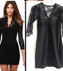 Haljina ili tunika crna čipka gothic
