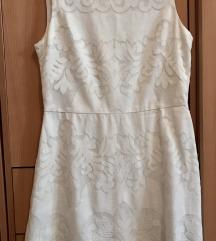 H&M bela čipkana haljina