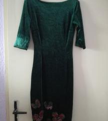 Zelena plisana haljina