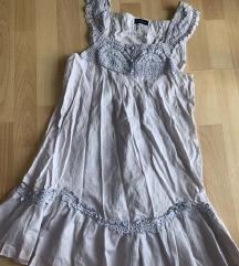 Siva boho letnja haljinica