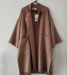ZARA wool blend oversized coat Nova Kolekcija!
