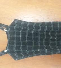 Karirana kratka haljina