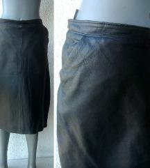 crna kožna suknja broj 38
