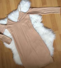 HM krem pamučna haljinica
