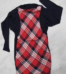 Karirana haljina vel. L / XL
