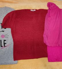 SNIŽENO tri nove bluze za 550 din