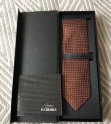 Braon kravata 100% svila Maruska