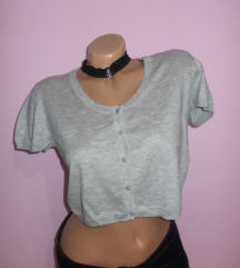 Sivi crop top