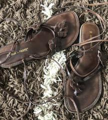 Braon kozne sandale