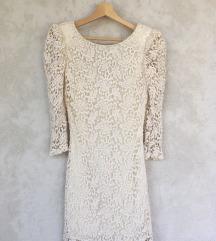 Bela svecana haljina od cipke XS